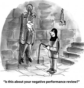 Seems negative performance reviews can have consequences