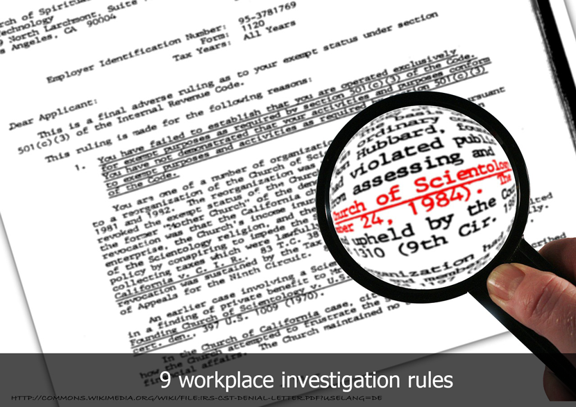 workplace-investigation-rules